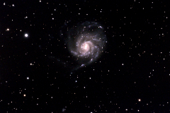 M101 35 frames at 60 seconds each, no filter, 240 gain, no visible moon, core difficult to process