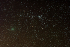 Comet Hartley in Double Cluster, Oct, 2010