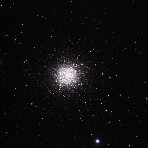 """M13, August 8th, 2021, 10 frames at 300 seconds each, 180 gain taken with a guided 5"""" Maksutkov"""